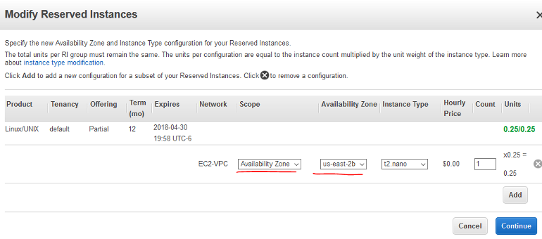 New, Availability Zone scoped Reserved Instance settings